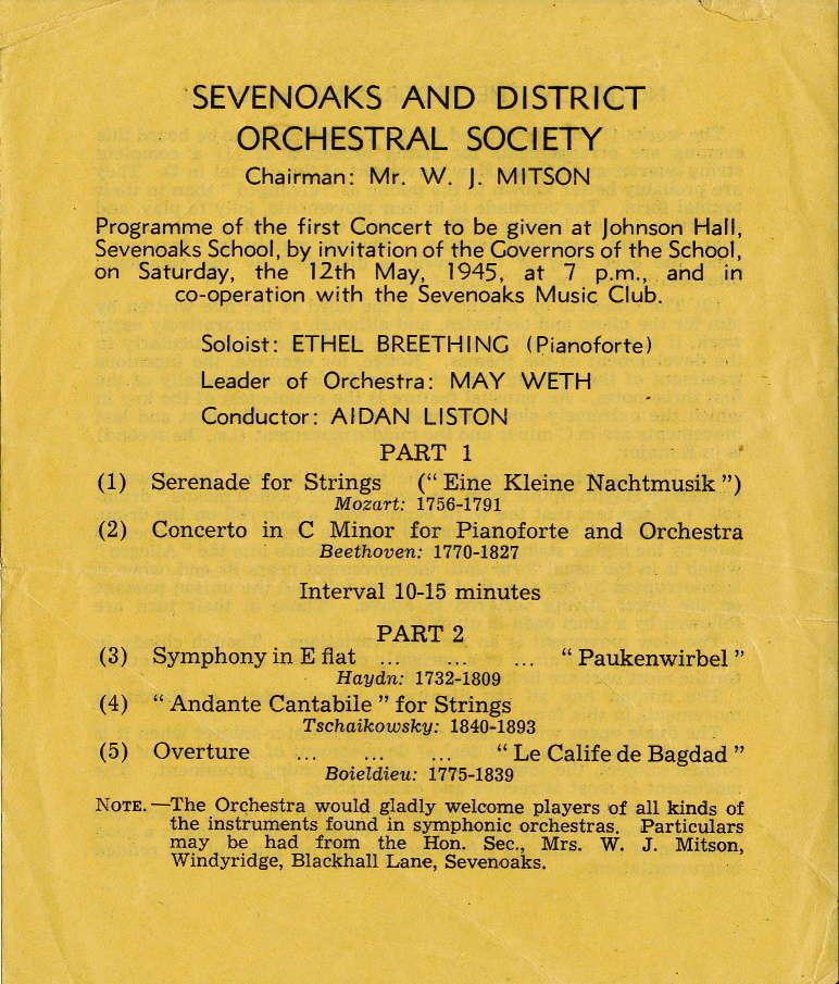 First programme